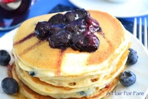 Blueberry pancakes 3