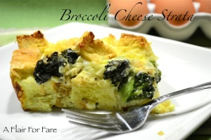 Broccoli Strata closeup piece