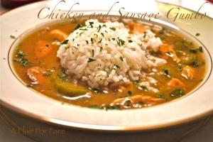 Chicken and sausage gumbo redo