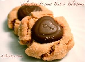 Valentine Peanut Butter Blossoms