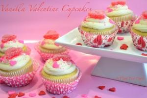 Vanilla Valentine Cupcakes