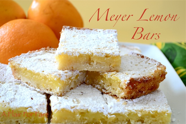 Meyer Lemon Bars | A Flair for Fare
