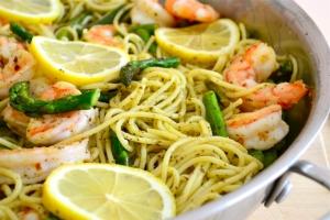 Pesto Pasta Shrimp and Asparagus2