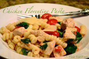 Chicken Pasta Florentine