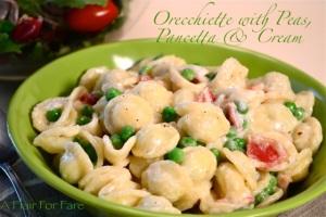 Orecheitte, Panchetta and Peas