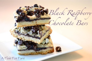 Black Raspberry and Chocolate Cookie Bars