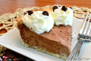 Chocolate Silk Pie slice