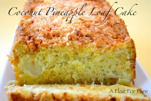 Coconut Pineapple Loaf Cake