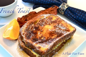 French toast close up