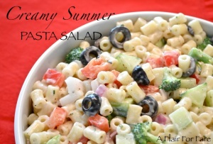 Creamy Summer Pasta Salad blog