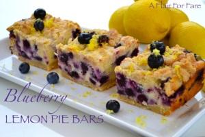 Lemon Blueberry Pie Bars