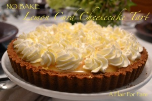 Lemon Curd Cheesecake Tart