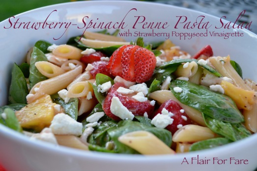 Strawberry Spinach Pasta salad 1